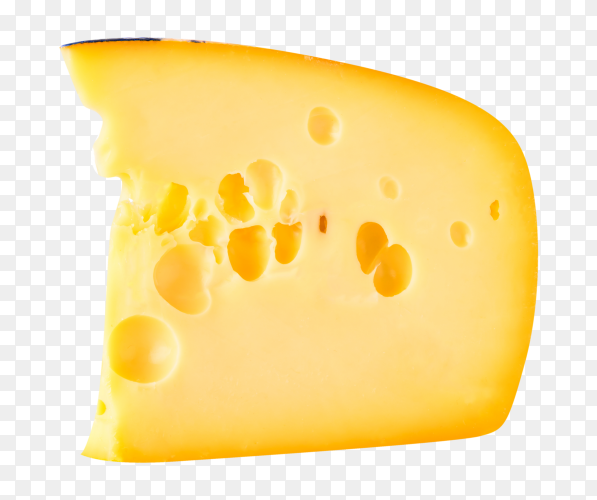 Swiss cheese piece on transparent background PNG