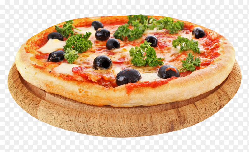 Tasty pizza with olives premium image PNG