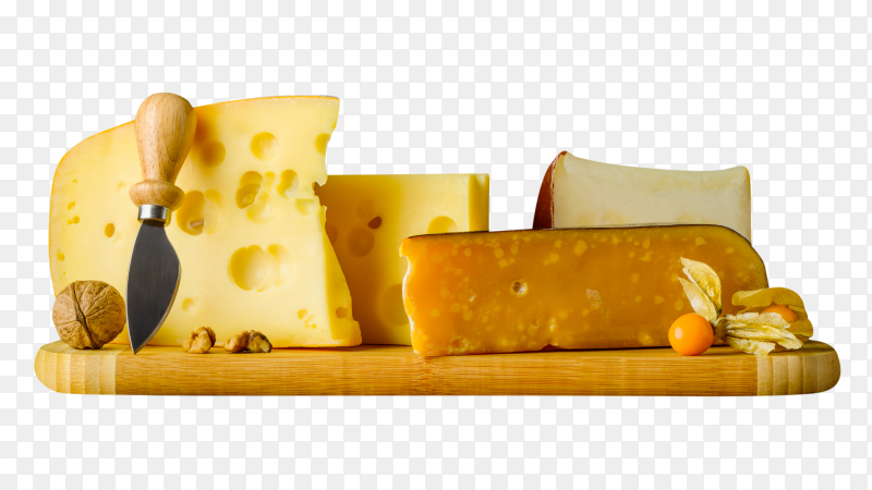 Tasty swiss emmental cheese on transparent background PNG