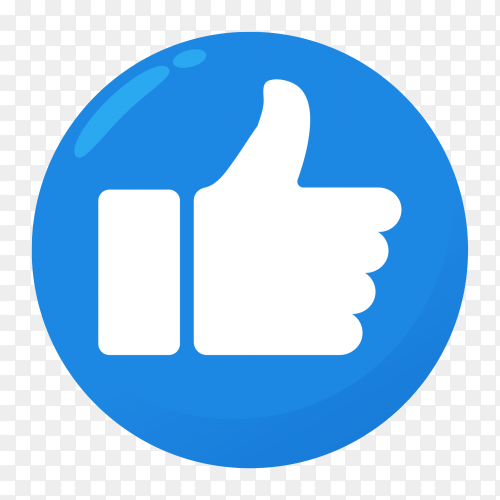Thumb up icon like transparent PNG