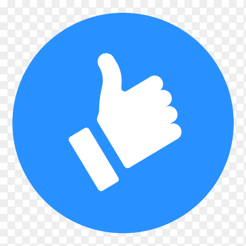 Thumb up like icon social media clipart PNG