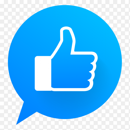 Thumb up like icon social media facebook transparent PNG