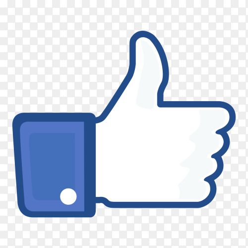 Thumb up like icon social media free download PNG