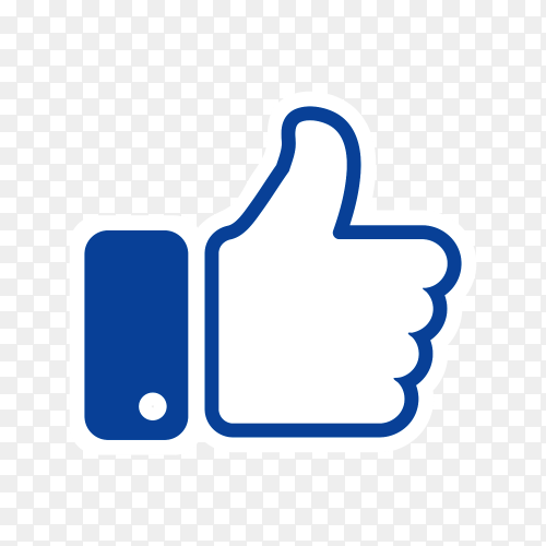 Thumb up like icon social media transparent PNG