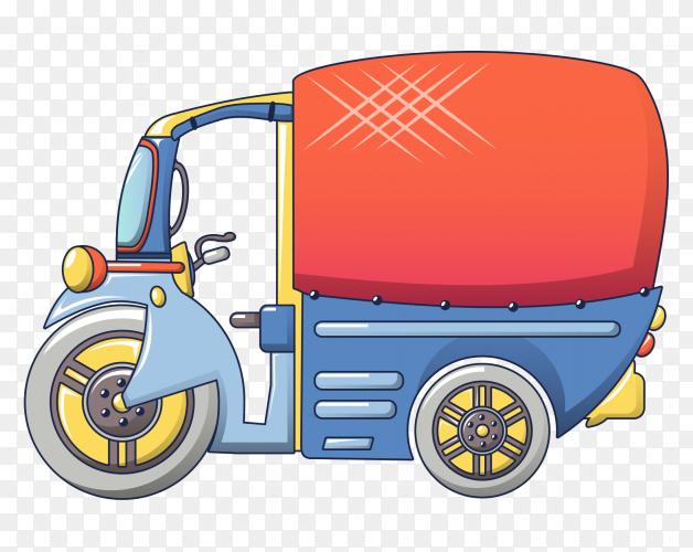 Tuk tuk car illustration clipart PNG