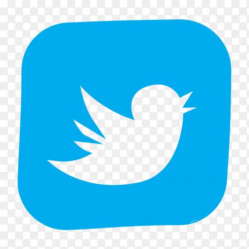 Twitter logo on transparent background PNG