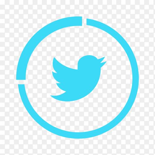 Twitter logo popular social media icon transparent PNG