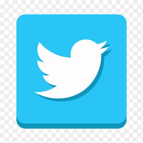 Twitter logo royalty free PNG