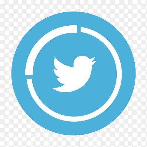 Twitter logo social media icon transparent PNG