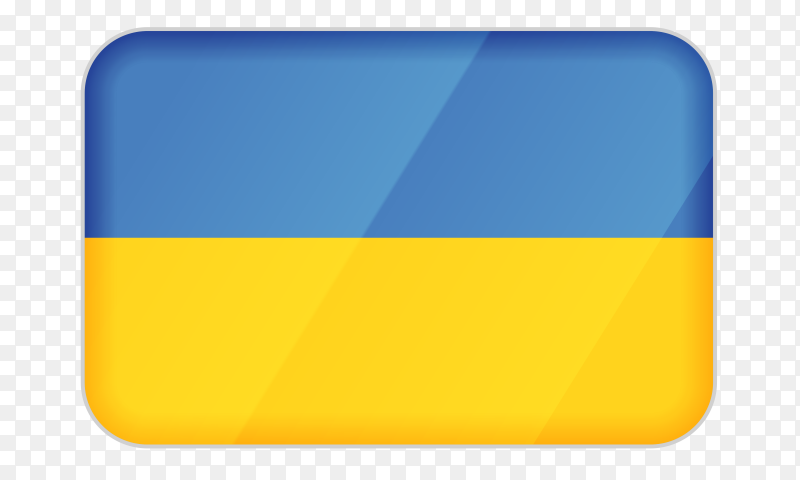 Ukraine flag icon on transparent background PNG