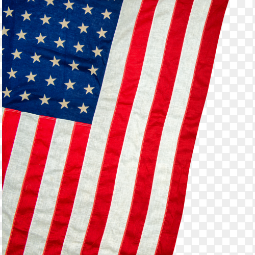 United states – USA flag on transparent background PNG