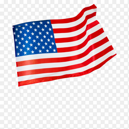 United states of america flag waving air transparent PNG