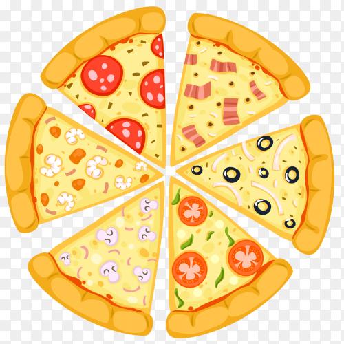 Various pizza slices transparent PNG
