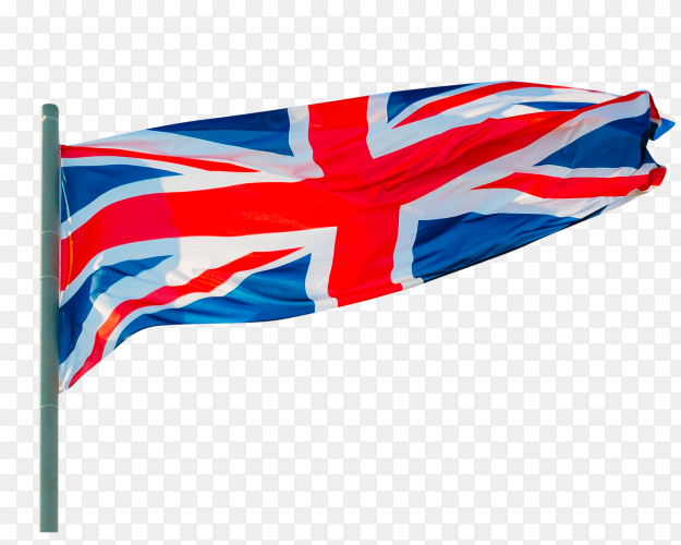 Waving Britain flag – United kingdom flag royalty free PNG