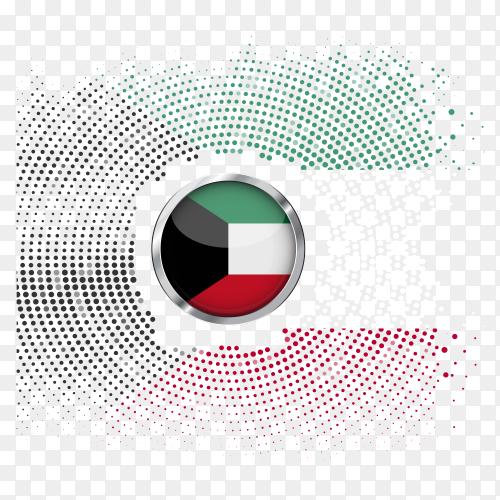 kuwait flag halftone gradient transparent PNG