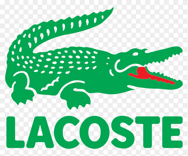 Lacoste logo transparent background PNG