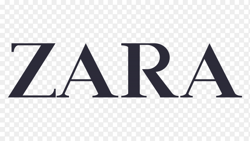 Logo zara transparent background PNG