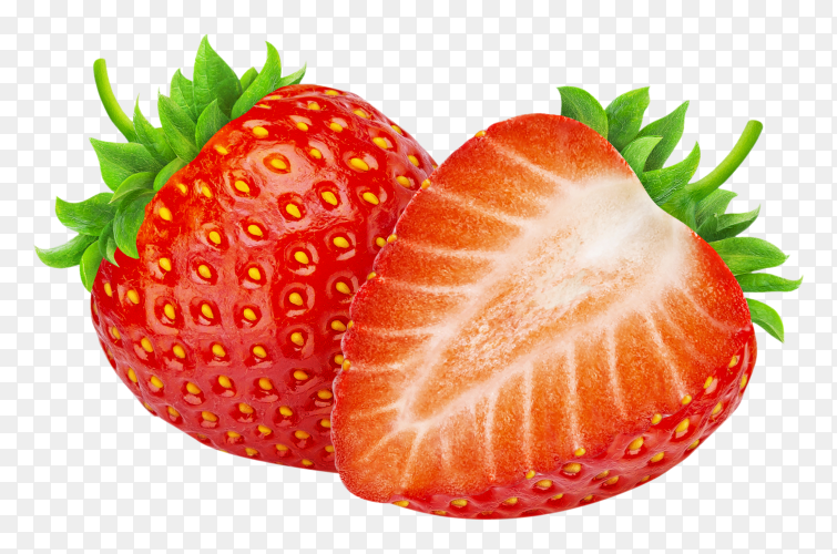 Strawberries on transparent background PNG