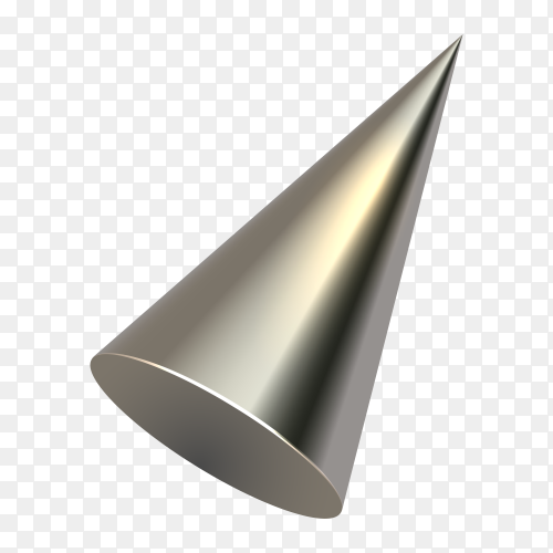 3D Stainless Steel Cone Funnel vector PNG