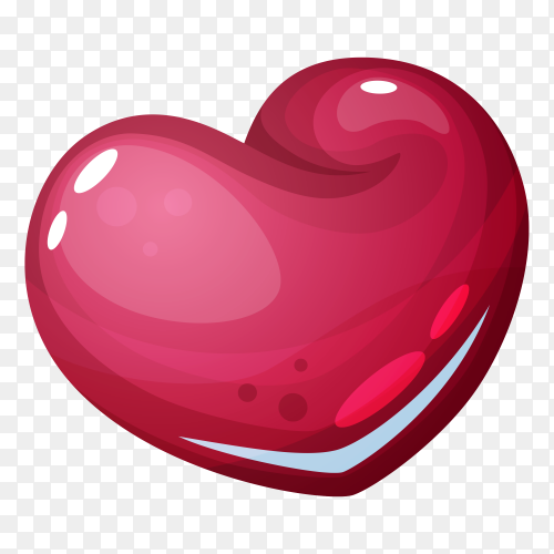 3D red Heart premium clipart PNG