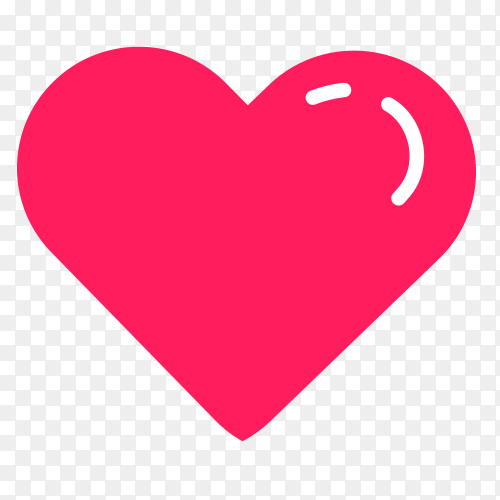 A sweet heart smiling on transparent PNG