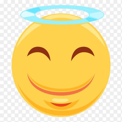 Angel Blushing Smile Emoji vector Png