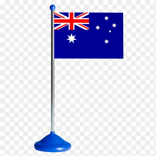 Australia Flag on transparent background PNG