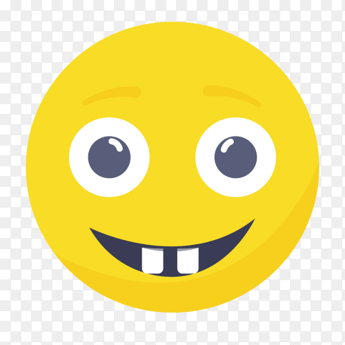 Beaming emoji face with smiling eyes clipart PNG