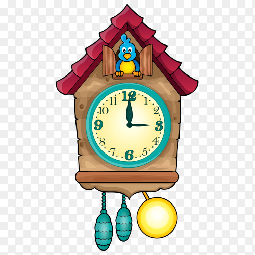 Beautifal cuckoo clock vector PNG