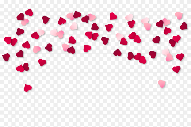 Beautiful Valentine Hearts Vector PNG