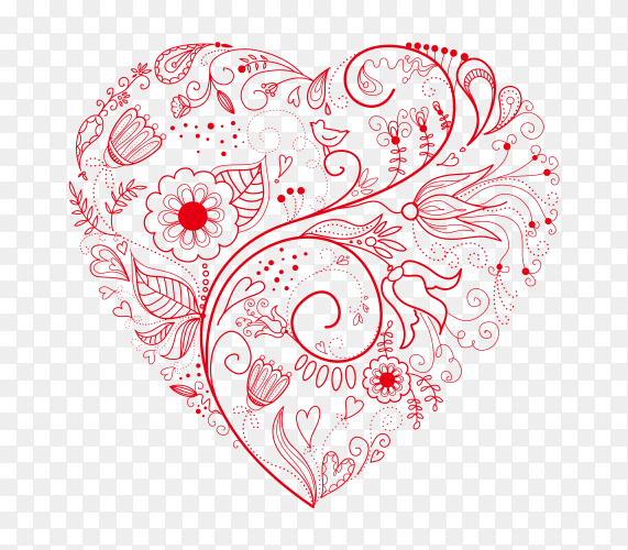Beautiful greeting heart vector PNG