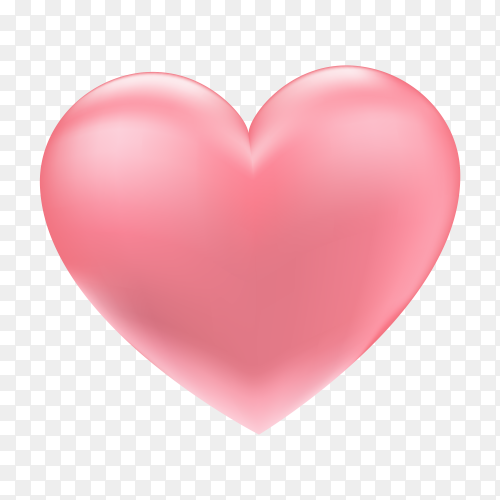 Beautiful pink 3d heart premium clipart PNG