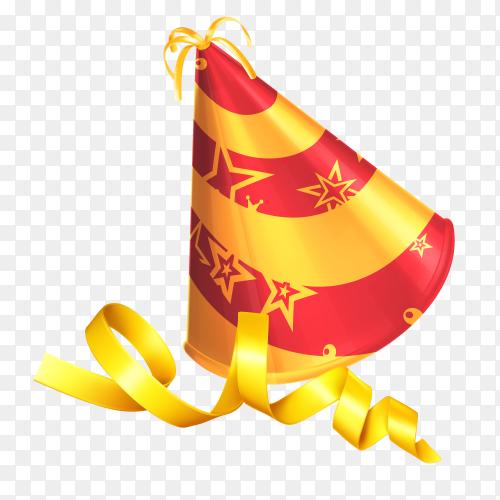 Birthday wish cap vector PNG