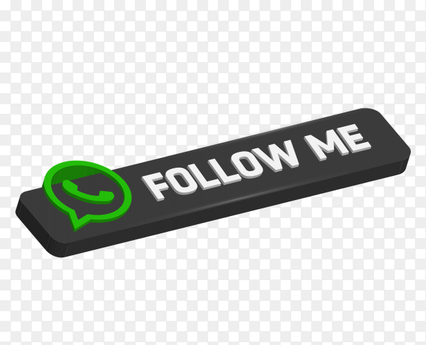 Black Signboard Follow me with whatsapp logo on transparent PNG