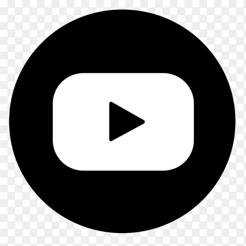 Black Youtube logo with  new style vector PNG