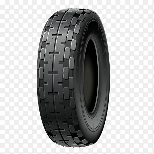 Black car wheel on transparent PNG
