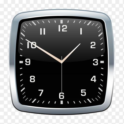 Black wall clock Clipart PNG