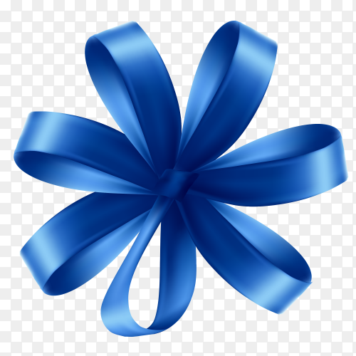 Blue Bow vector PNG