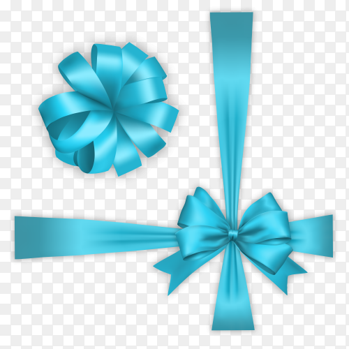 Blue Ribbon on transparent background PNG