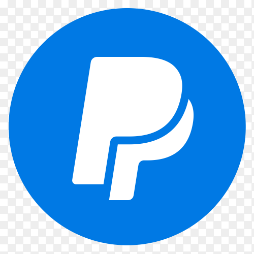 Blue logo PayPal vector PNG