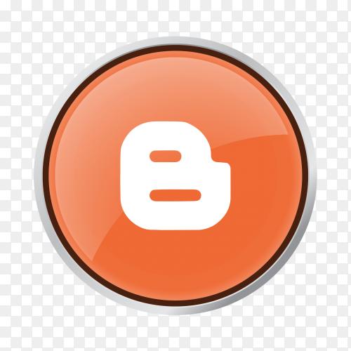Button Blogger logo on transparent background PNG