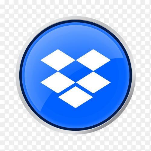 Button Dropbox icon vector PNG