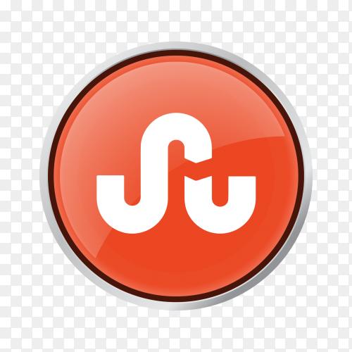 Button StumbleUpon Clipart PNG