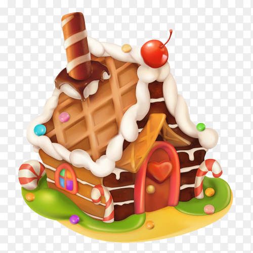 Candy house vector PNG
