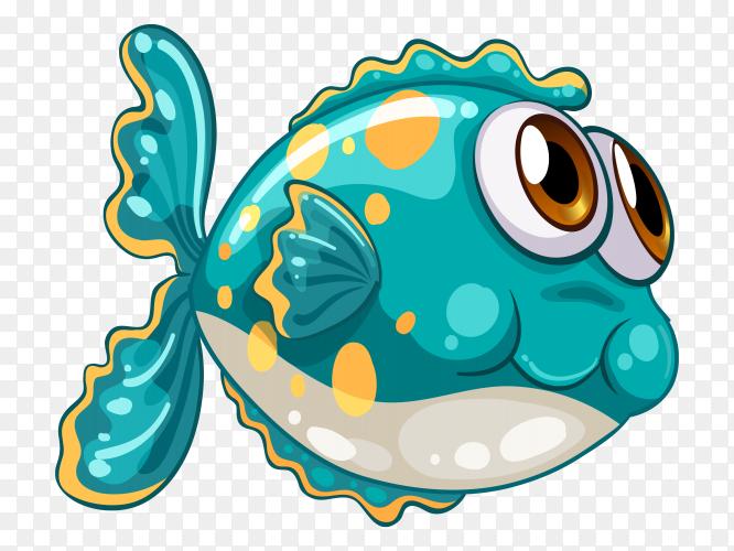 Cartoon Fish Under The Sea vector PNG