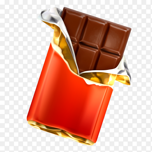 Chocolate Bars And Pieces on transparent PNG