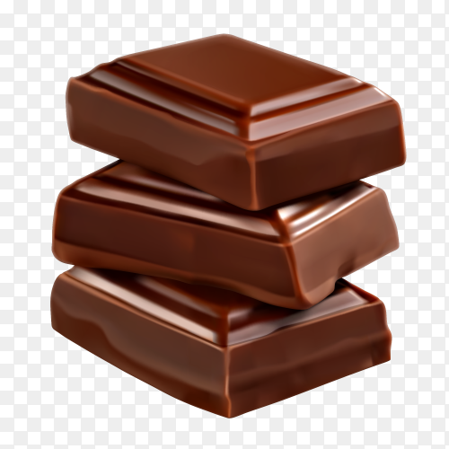 Chocolate Pieces Illustration Clipart PNG