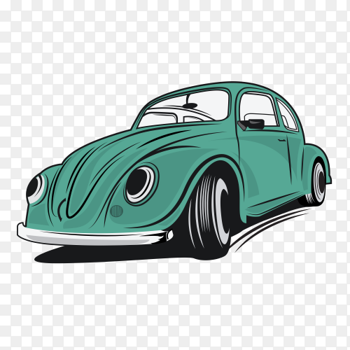 Classic racing cars on transparent background PNG