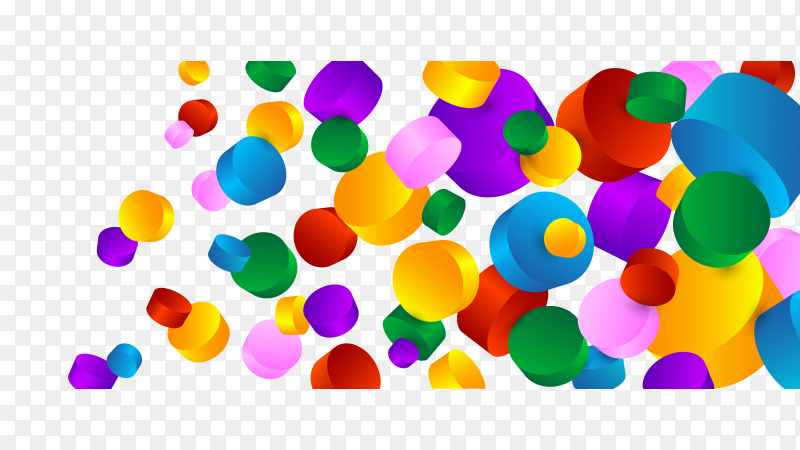 Colorful 3D design circle Clipart PNG