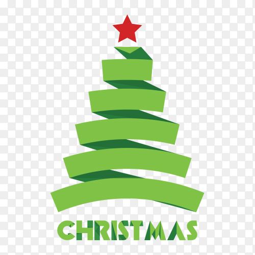 Colorful Christmas tree vector PNG